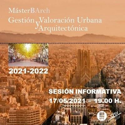 Sessió informativa GVUA-MBArch (2021-2022)